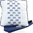 Ashleigh & Burwood - Bleu Sur Blanc Comfort Cushion