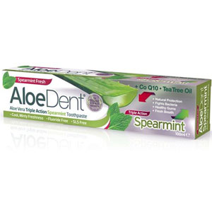 AloeDent - Aloe Vera Triple Action Spearmint Toothpaste