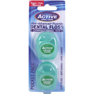 Active Oral Care - Dental Floss - Pocket Pack