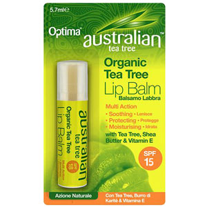 Organic Tea Tree Lip Balm - SPF 15