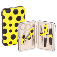 Danielle Creations - Yellow Spotted 5 Piece Manicure Set