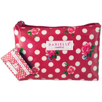 Danielle Creations - Cranberry Vintage Roses Cosmetic Purse