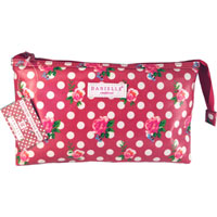 Danielle Creations - Cranberry Vintage Roses Medium Clutch