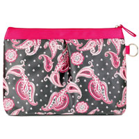 Danielle Creations - Paisley Pleated Cosmetic Clutch