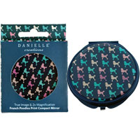 Danielle Creations - French Poodles Compact Mirror in Gift Box