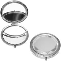 Danielle Creations - Clear Round Jewel Compact Mirror