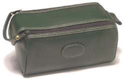 Danielle Creations - Men's Dual Zip Wash Bag - Dark Green