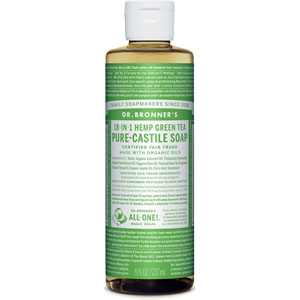 Dr. Bronner's - 18-in-1 Hemp Green Tea Pure Castile Soap