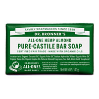 All-One Hemp Pure-Castile Bar Soap - Almond|4.4900|4.4900