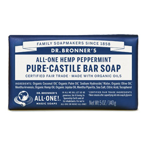 Dr. Bronner's - All-One Hemp Pure-Castile Bar Soap - Peppermint
