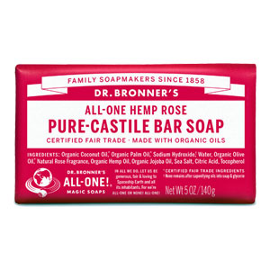 Dr. Bronner's - All-One Hemp Pure-Castile Bar Soap - Rose