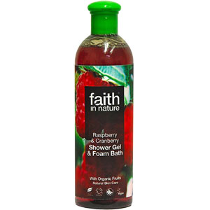 Faith In Nature - Raspberry & Cranberry Foam Bath & Shower Gel