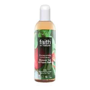 Faith In Nature - Pomegranate & Rooibos Shower Gel & Foam Bath