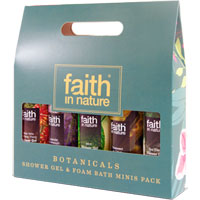Faith In Nature - Botanicals Shower Gel & Foam Bath Minis Pack