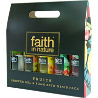 Faith In Nature - Fruits Shower Gel & Foam Bath Minis Pack
