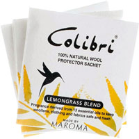 Colibri - Lemongrass All-Natural  Wool Protector Sachets