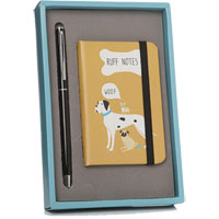 Lisa Buckridge Shruti Designs - It's A Dogs Life Notebook & Pen Gift Set