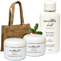 Martha Hill - Mimosa & Rosewater Skin Care Trio (with Jute Bag)