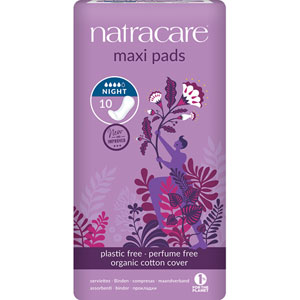 Natracare - Natural Maxi Pads - Night Time