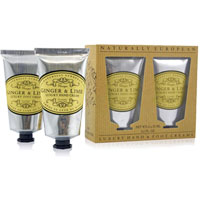 Naturally European - Ginger & Lime Luxury Hand & Foot Cream Gift Pack