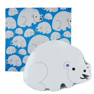 Opal London - Animal Magic Face Cloth - Polar Bear