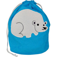 Opal London - Polar Print Drawstring Towelling Wash Bag