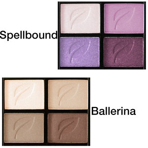 Herbal Eyeshadow Quad - Colour Chart