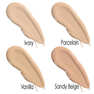 Powder Finish Foundation - Colour Chart