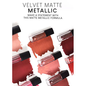 Velvet Matte Metallic Lip Colour - Colour Chart