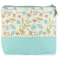 Shruti Wash Bag - Blue Embroidered Dotty Lace|13.5000|7.4500