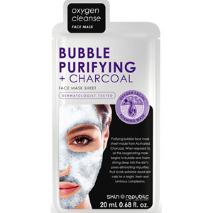 Skin Republic - Bubble + Purifying + Charcoal Face Mask