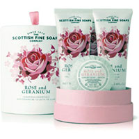 Scottish Fine Soaps - Rose & Geranium Luxurious Essentials Drum