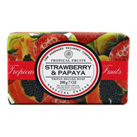 Tropical Fruits - Strawberry & Papaya Triple Milled Soap