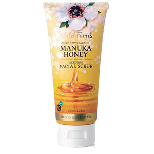 Wild Ferns Pure New Zealand - Manuka Honey Refining Facial Scrub