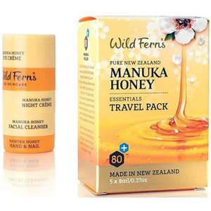 Wild Ferns New Zealand Manuka Honey - Manuka Honey Essentials Travel Pack