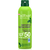 Alba Botanica - Sensitive Sunscreen - Fragrance Free SPF 50