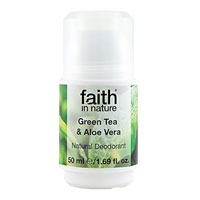 Faith In Nature - Roll-On Crystal Deodorant - Green Tea & Aloe Vera