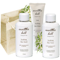 Martha Hill - Soothing Skin Care Collection (with jute flower bag)