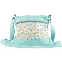 Shruti - Shruti Scattered Floral Blue Cross Body Bag